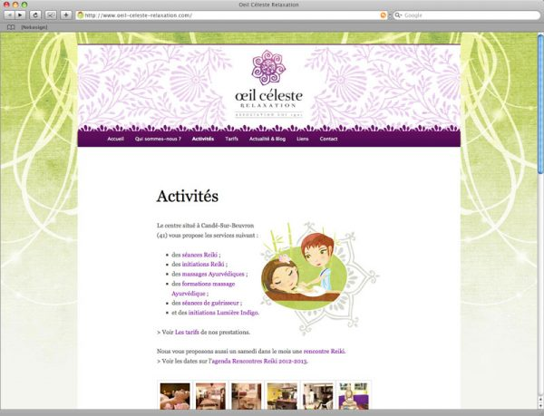 Webdesign oeil céleste relaxation screen 4