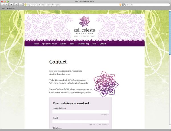 Webdesign oeil céleste relaxation screen 8