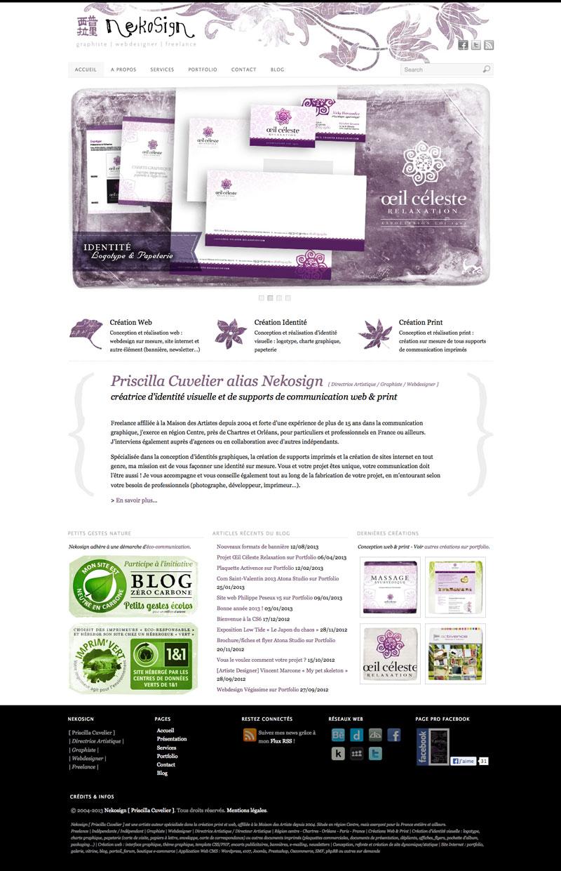 Webdesign Nekosign v3.3 - Accueil