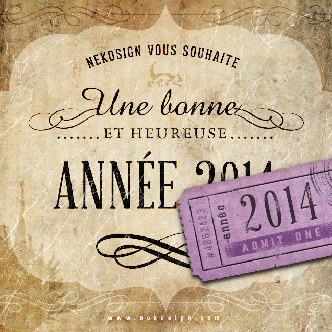 Carte de vœux Nekosign 2014