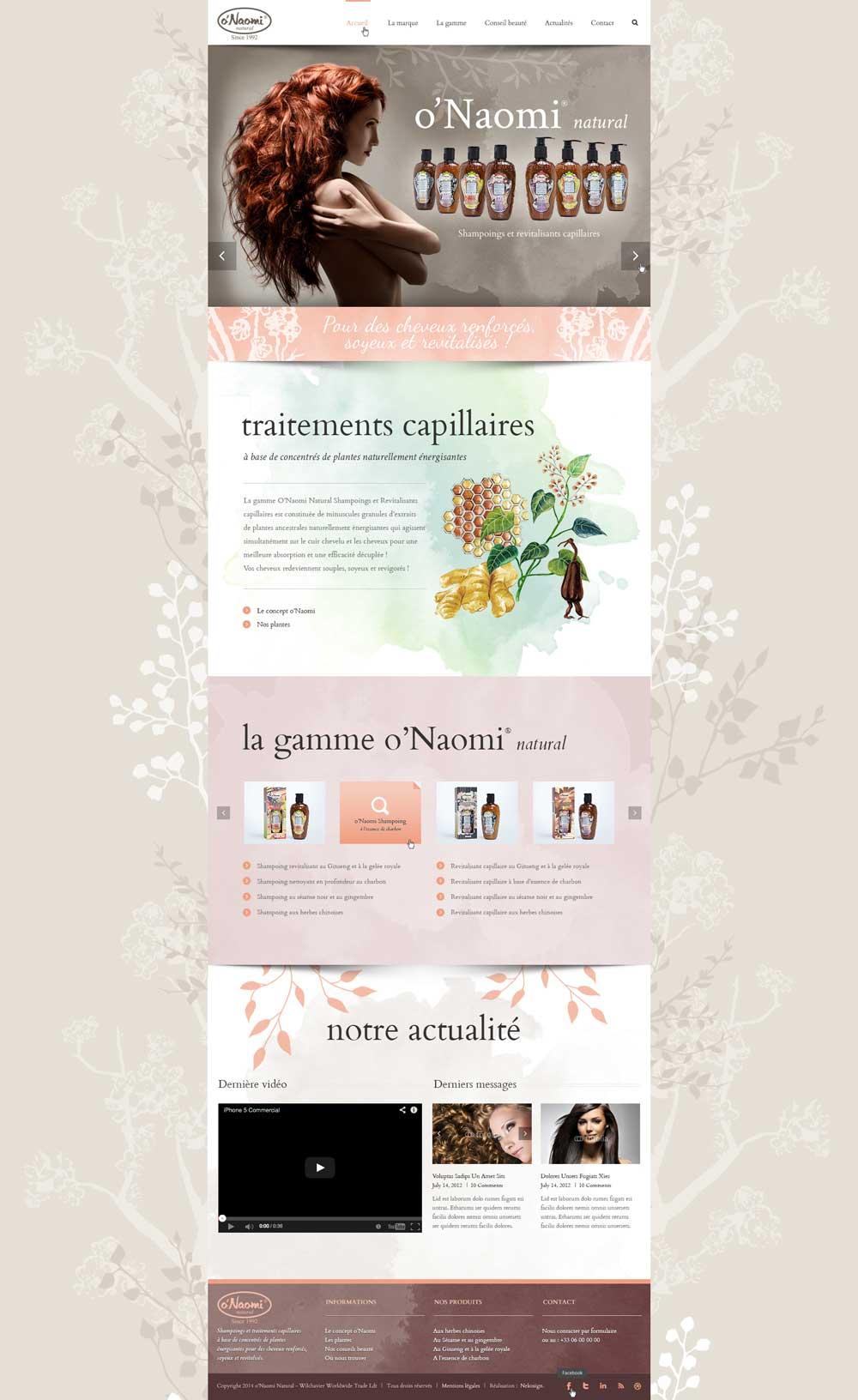 Webdesign o'Naomi natural
