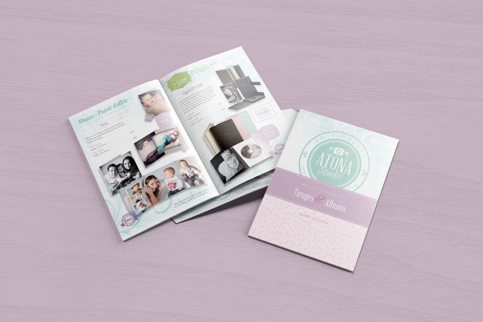 Brochure Tirages et Albums - Atona Studio