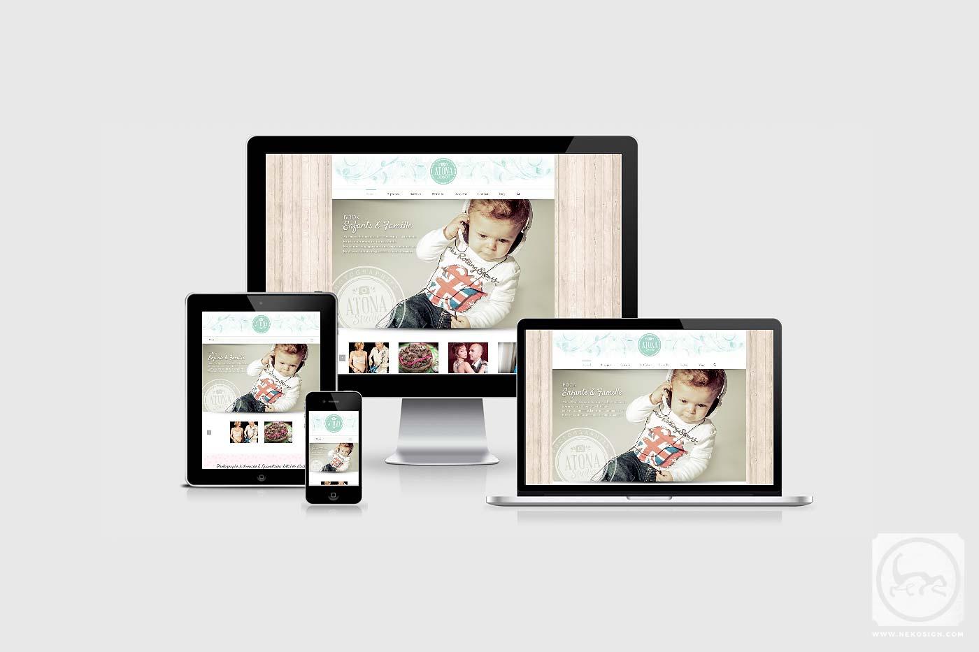 Webdesign Responsive Nekosign - Atona Studio
