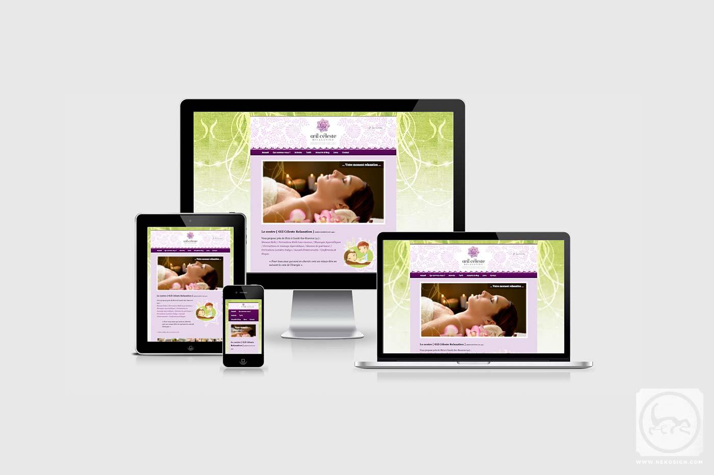 Webdesign Responsive Nekosign - Œil Céleste Relaxation