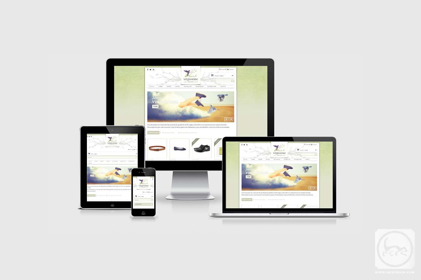 Webdesign Responsive Nekosign - Végissime