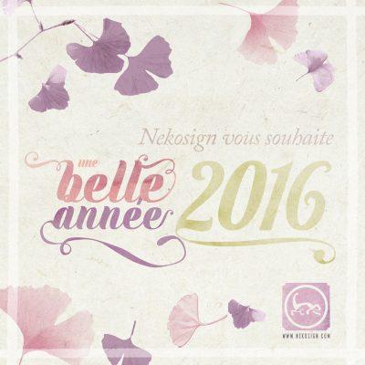 Carte de vœux Nekosign 2016