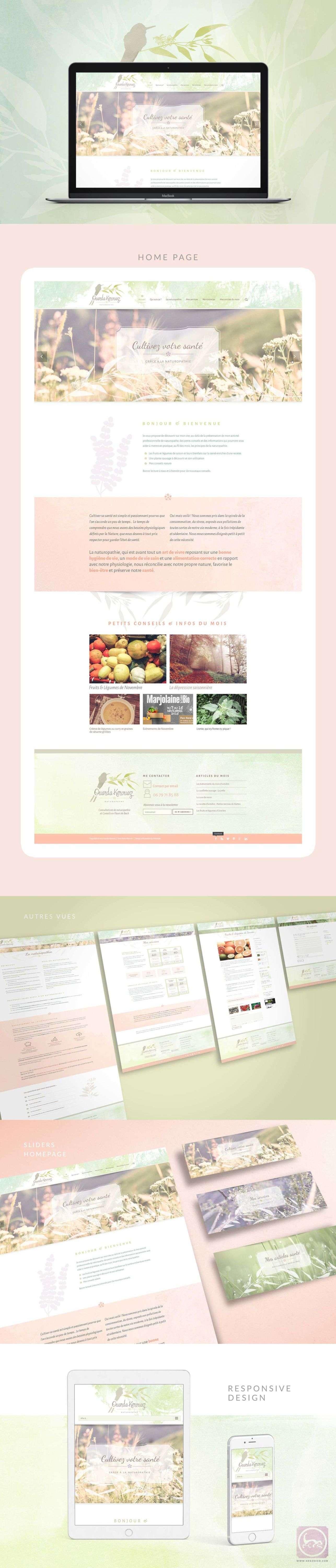 Ouarda kerouaz Naturopathe Website preview