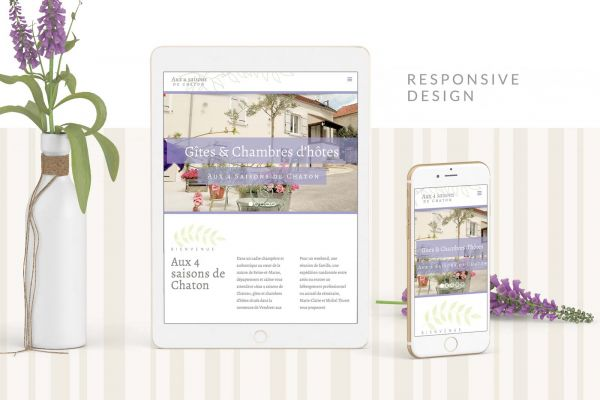 Aux 4 saisons Website responsive