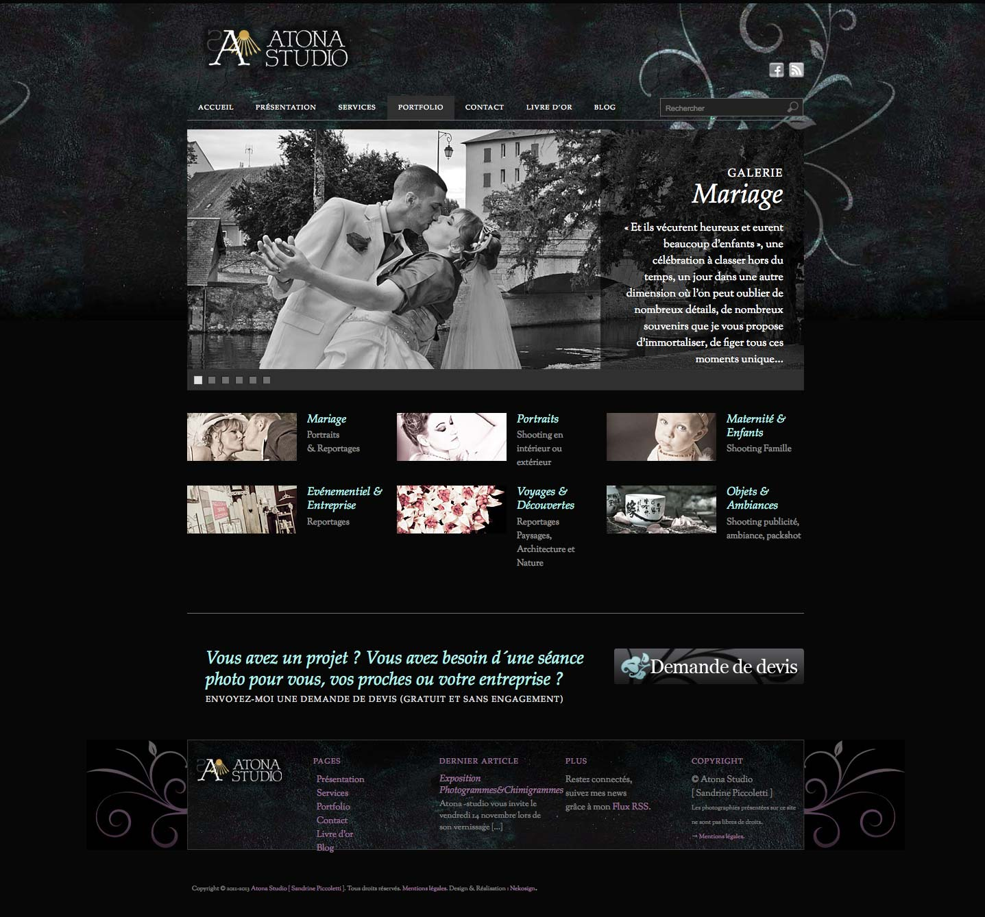 Interface Atona Studio v1 Website Portfolio