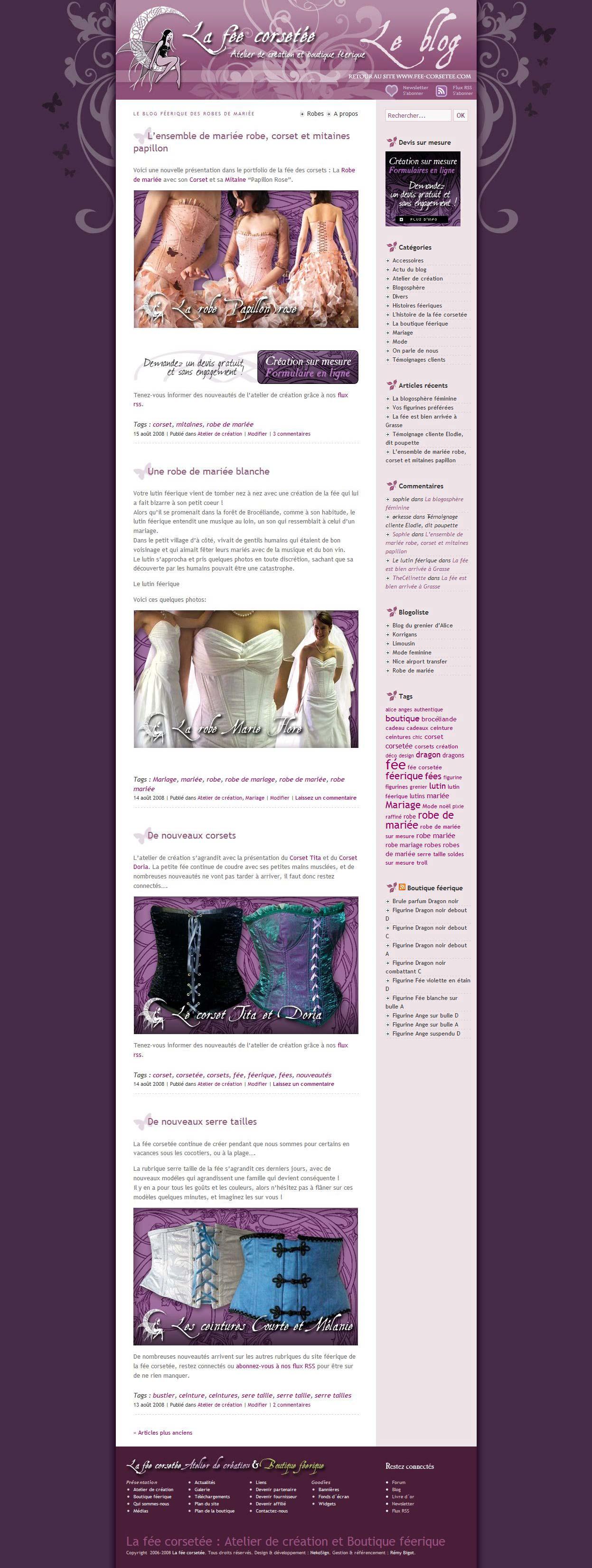 La fée corsetée v3 website blog