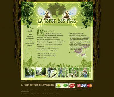 Interface La forêt des fées Website Accueil