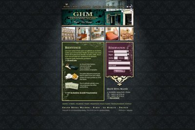 Interface GHM website home