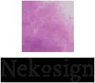 Nekosign [ Priscilla Cuvelier ] Logo