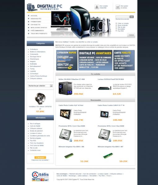 Interface Digitale PC Website shop