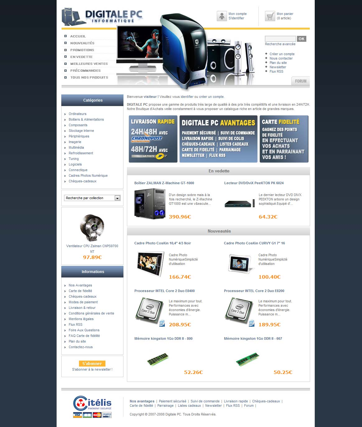 Digitale PC Website shop