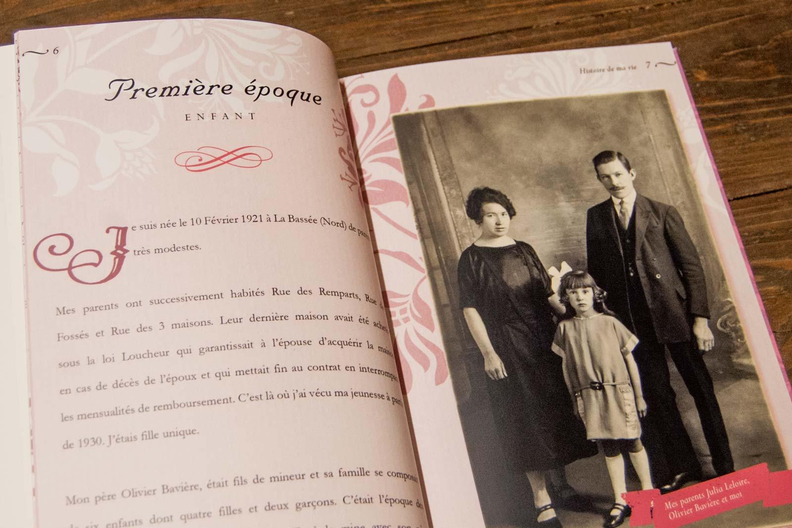 Biographie d'une vie Page chapitre