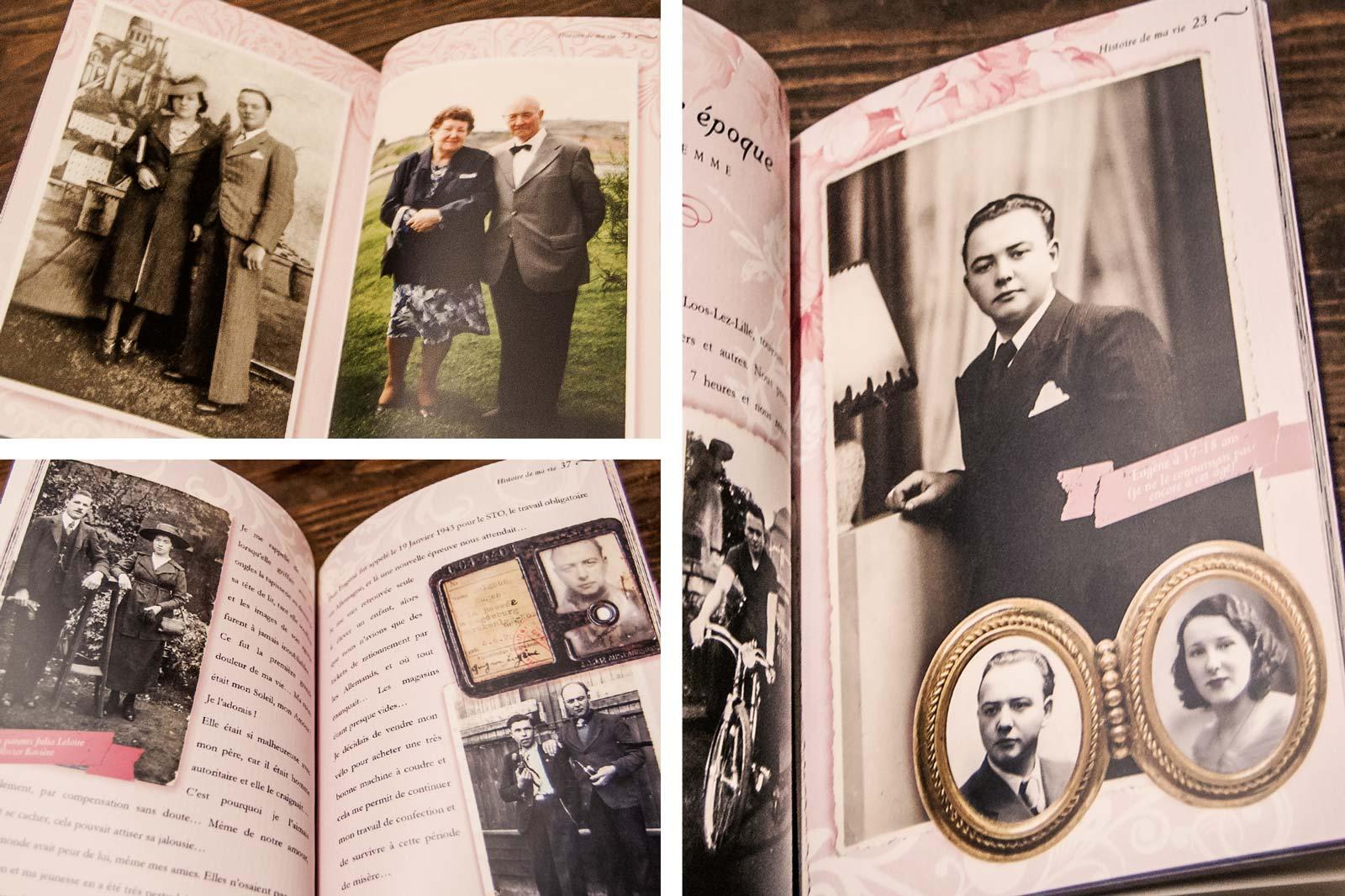 Biographie d'une vie Pages illustrées