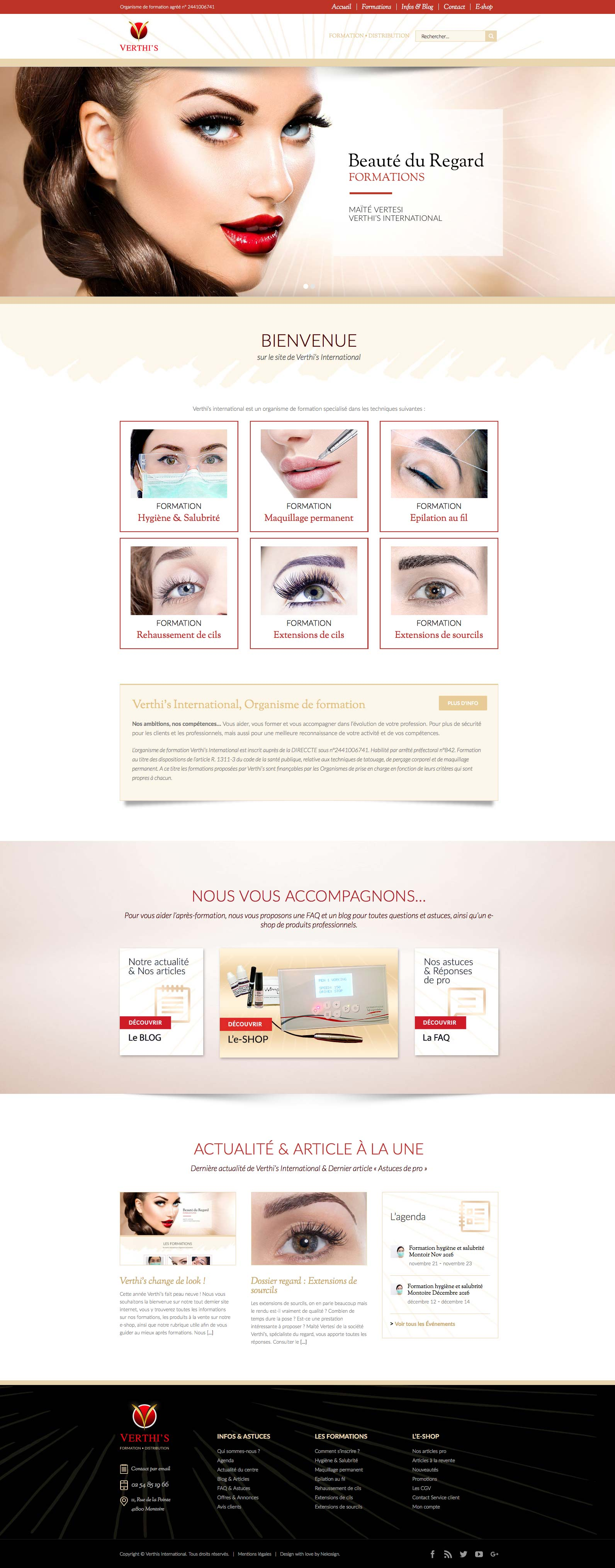 Interface Verthis website vitrine home