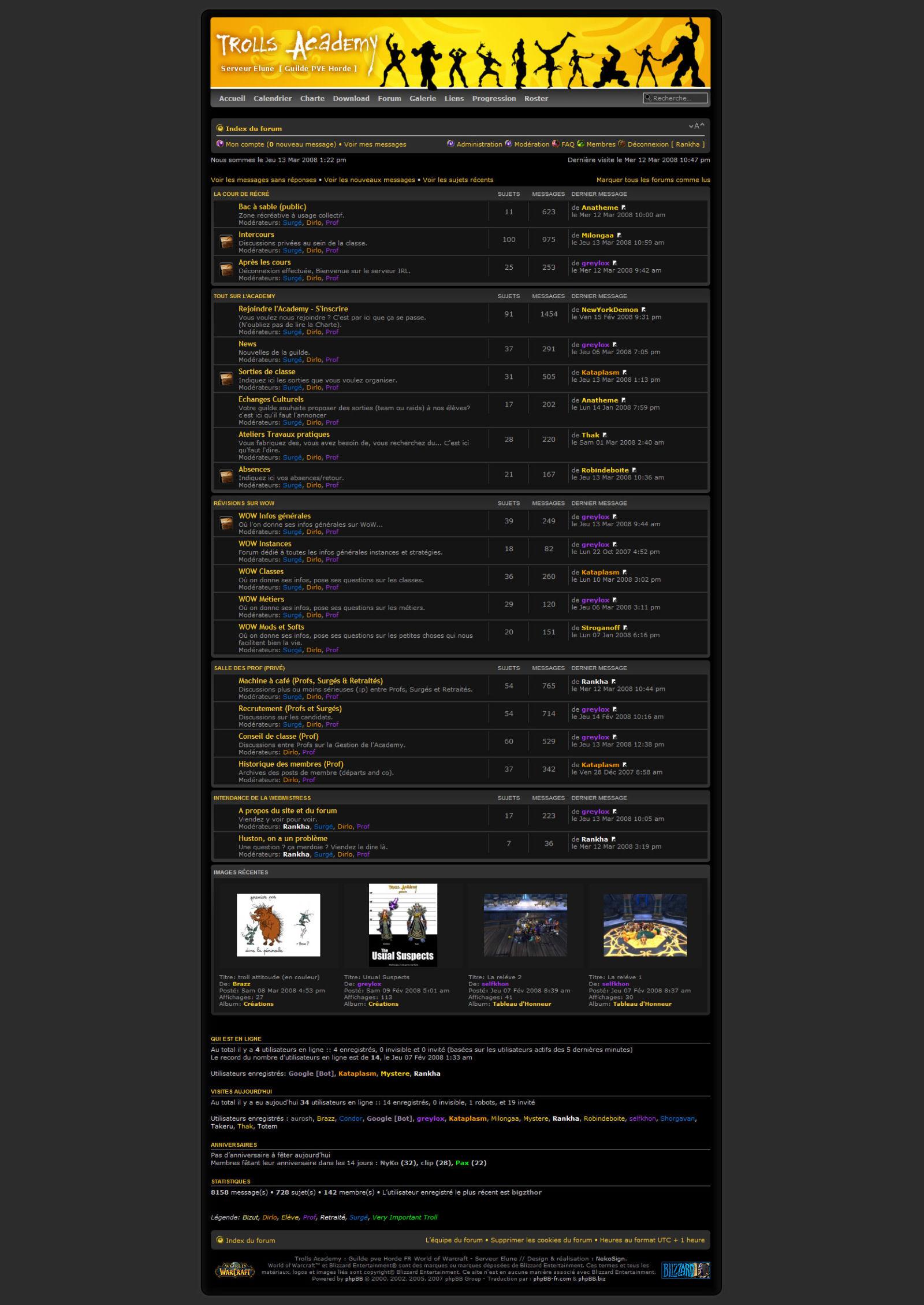 Interface Wow Troll v3 website forum