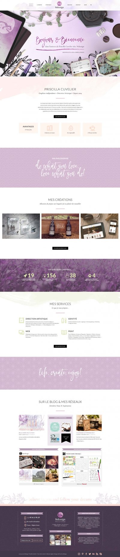 Interface Nekosign v4 Website screen home