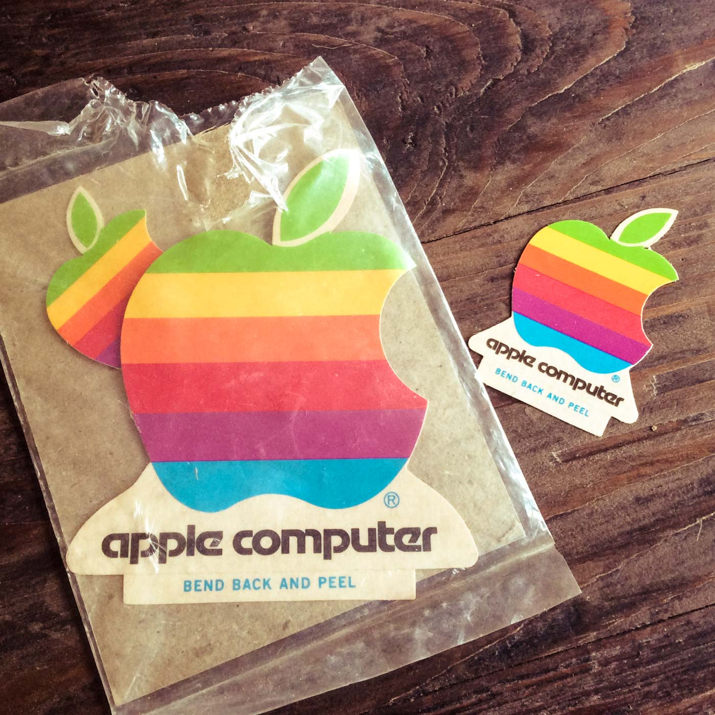 Stickers Apple Vintage