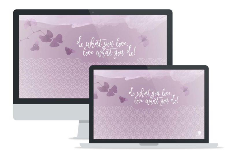 Preview Wallpaper Nekosign Purple scales Desktop