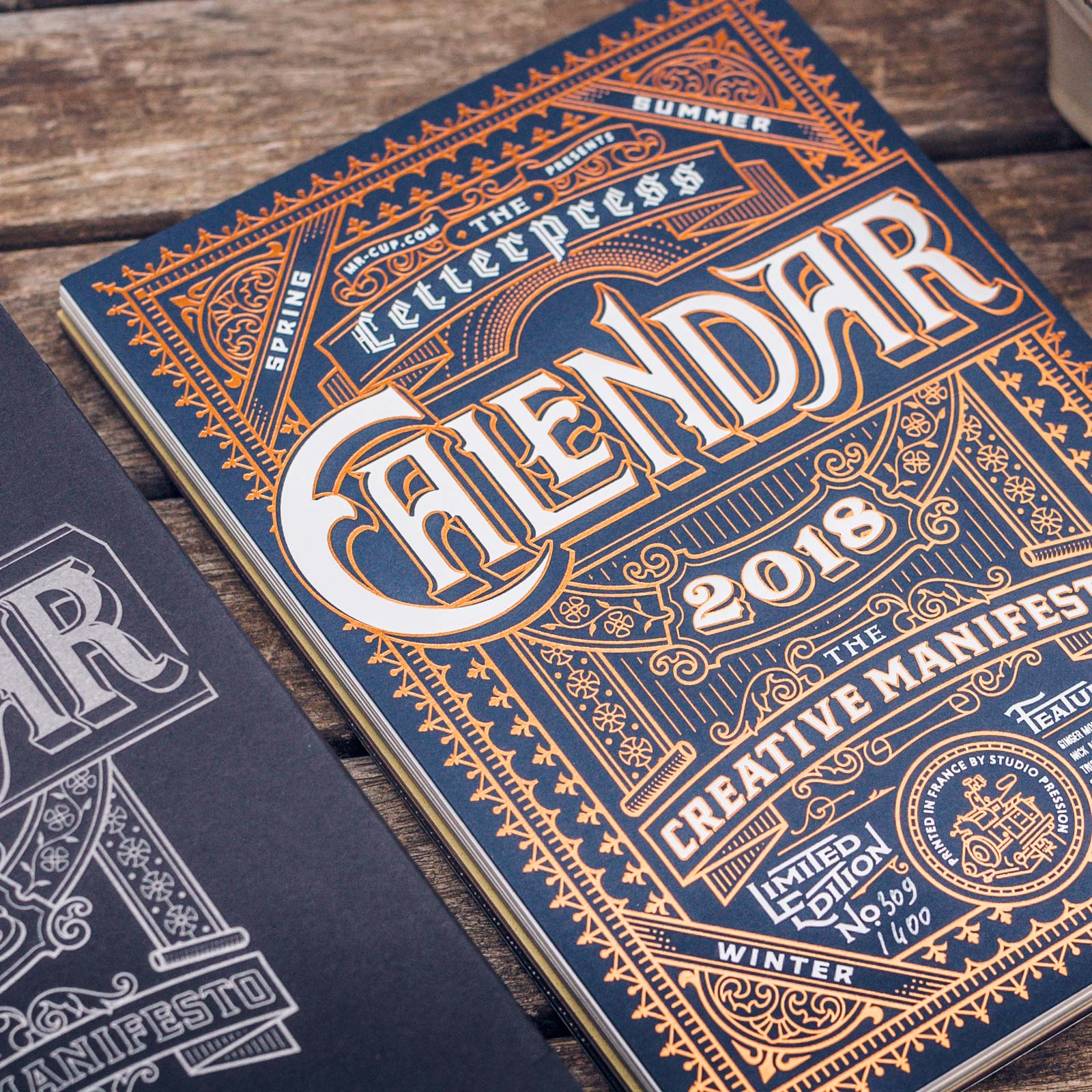 Calendrier letterpress 2018