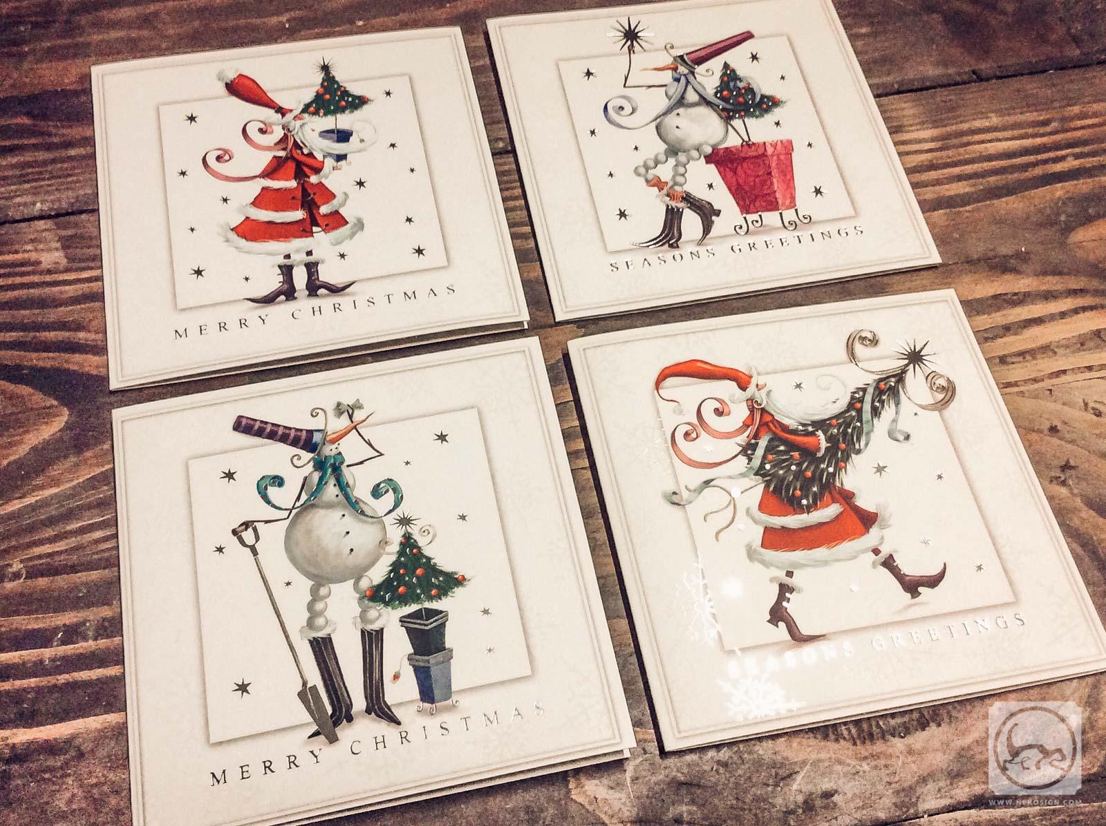 Cartes de Noël illustrées par Patience Brewster