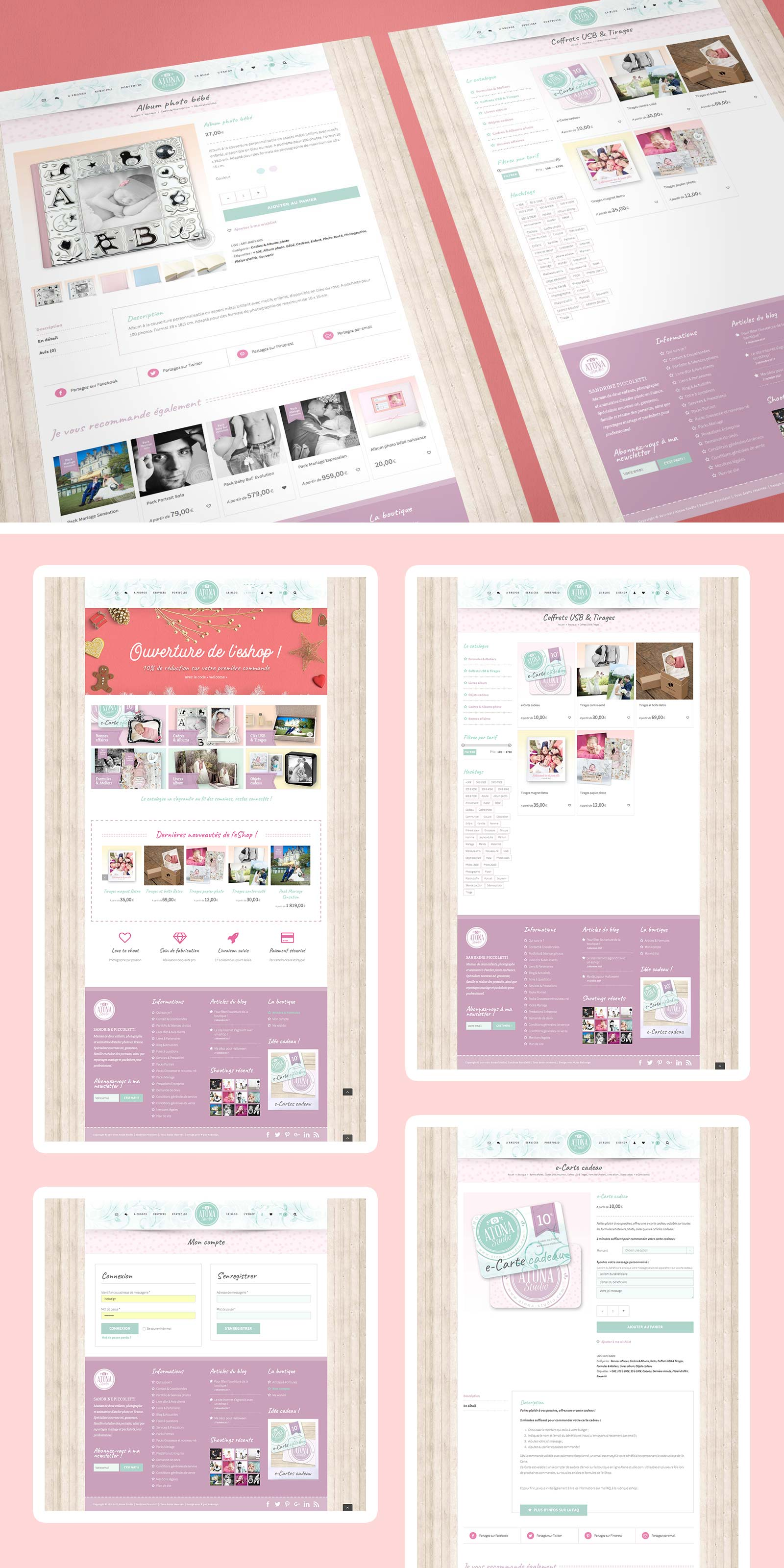 Pages de l'eshop Atona Studio