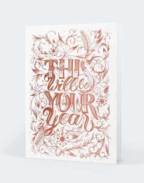 Carte by Audrey Leroy on Letterpress de paris