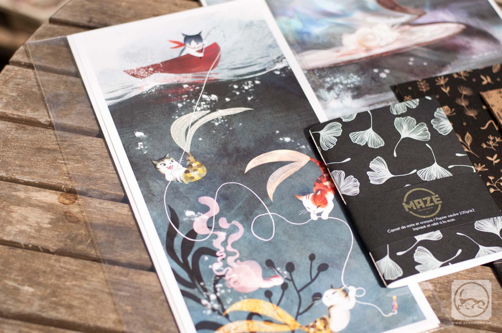 Commande affiches et carnets d'artiste - Vivien WuPurrmaids