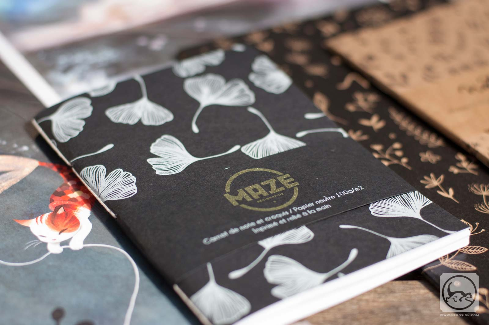 Commande affiches et carnets d'artiste - Carnet A6 de Maze serigraphie studio