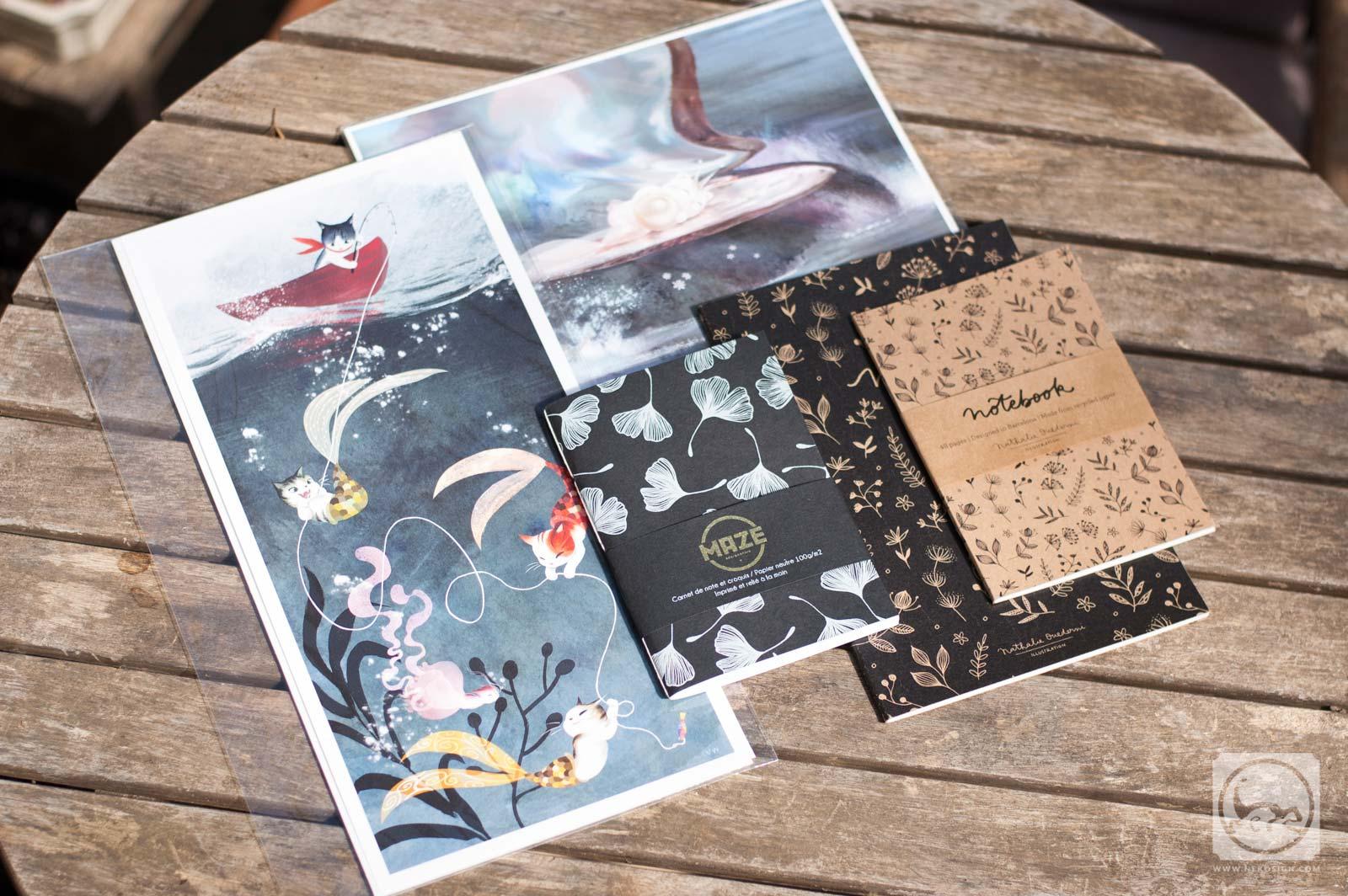 Commande affiches et carnets d'artiste