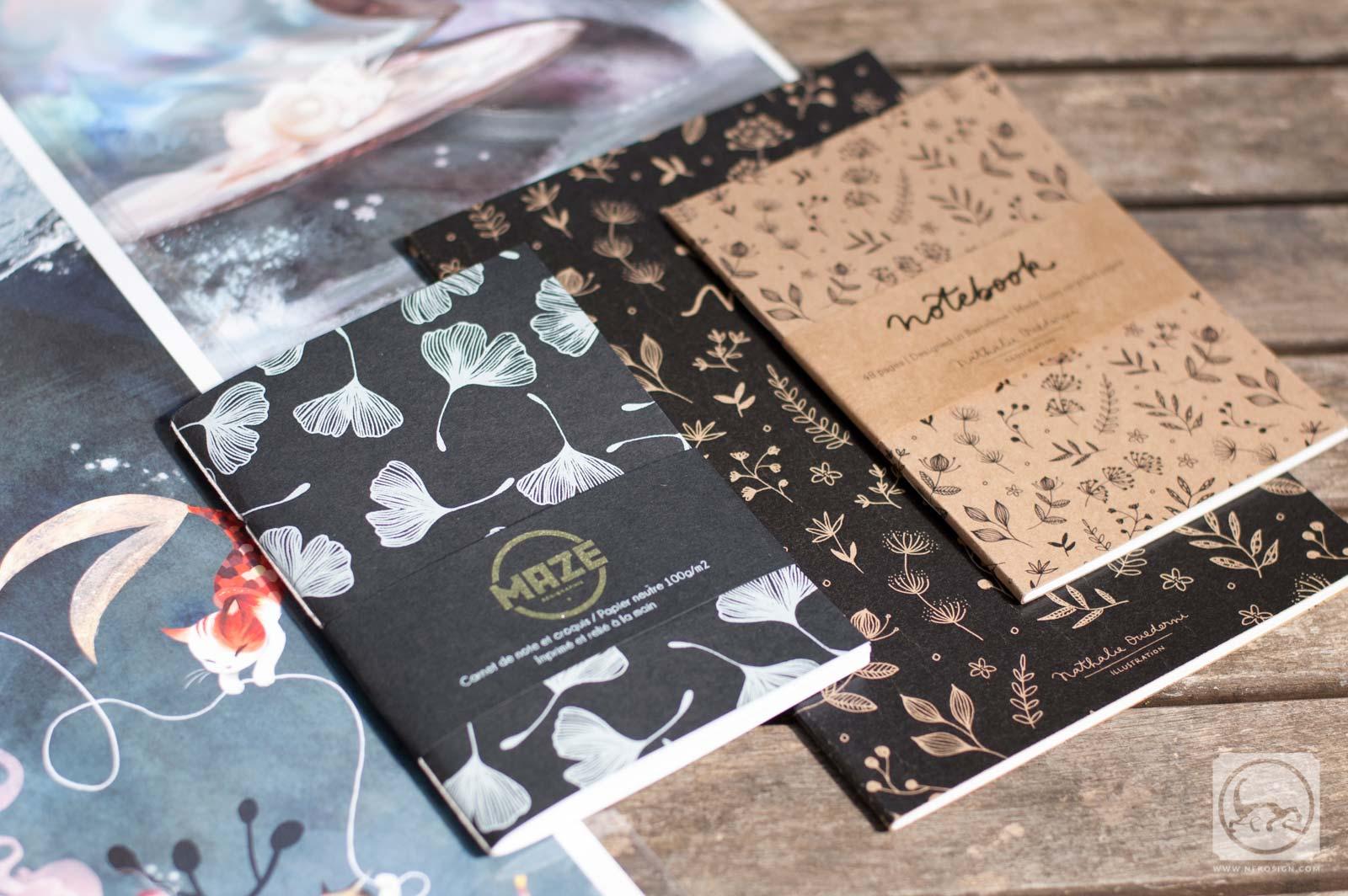 Affiches et carnets d'artiste - Carnets A6 et A5