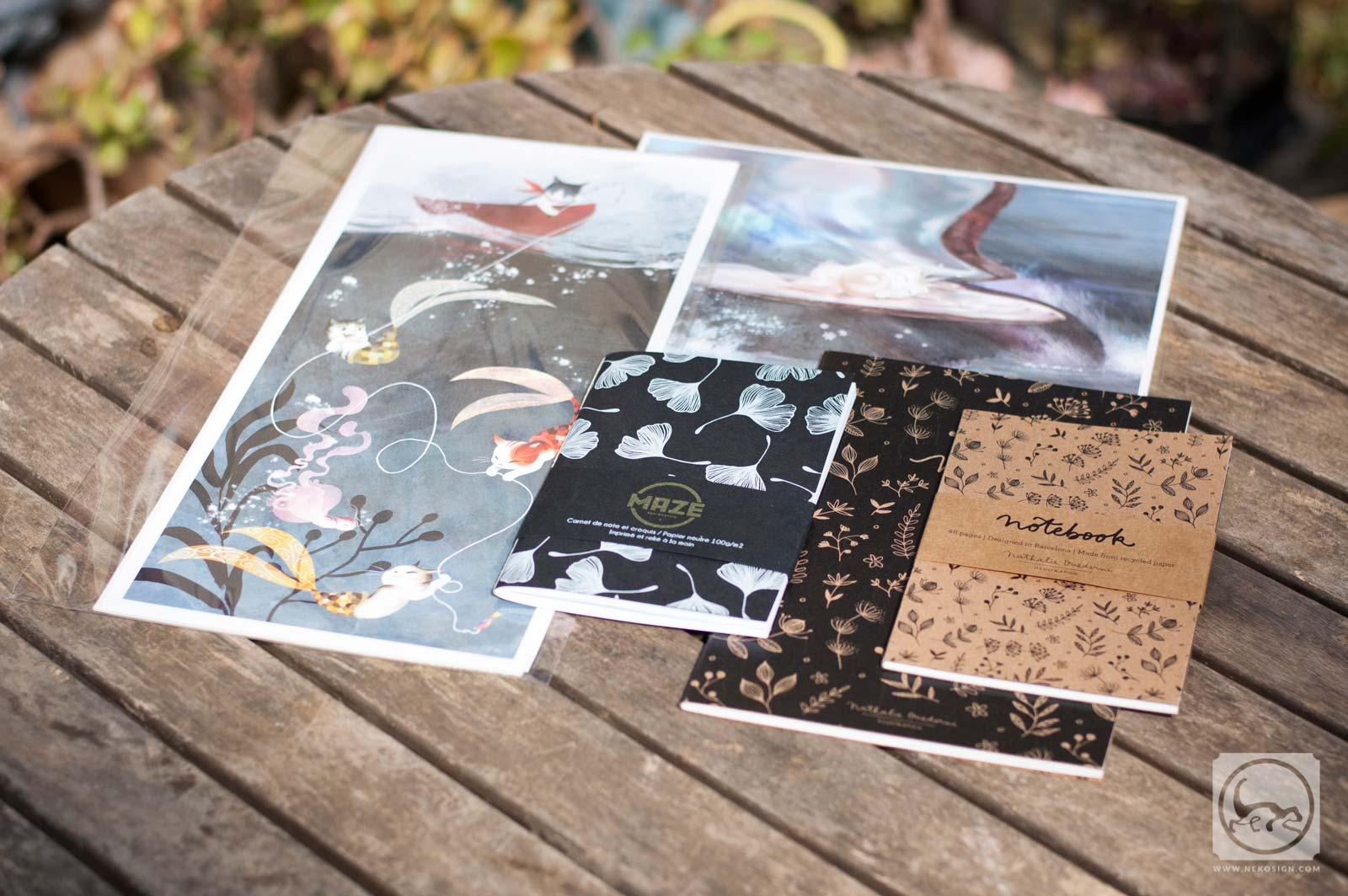 Commande affiches et carnets d'artiste - Goodies etsy