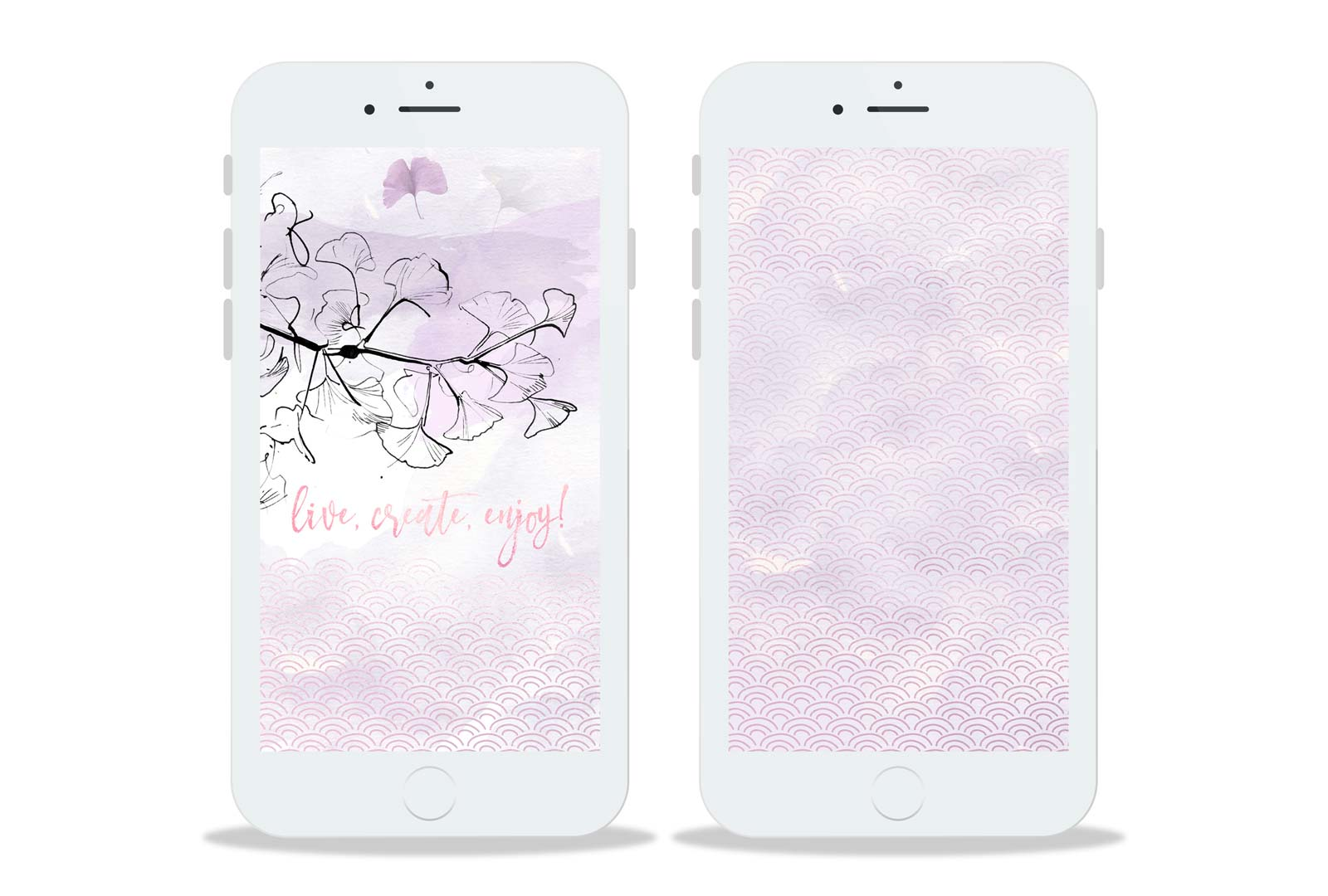 Preview Wallpaper Nekosign Purple Enjoy iPhone