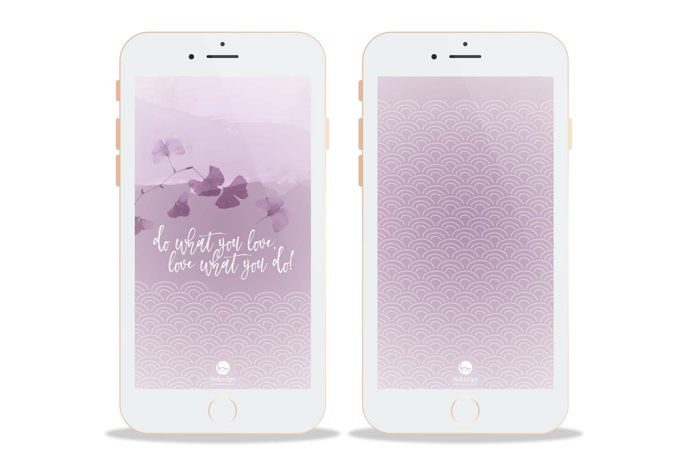Preview Wallpaper Nekosign Purple scales Smartphone