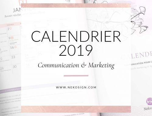 { Freebie } Calendrier de communication 2019
