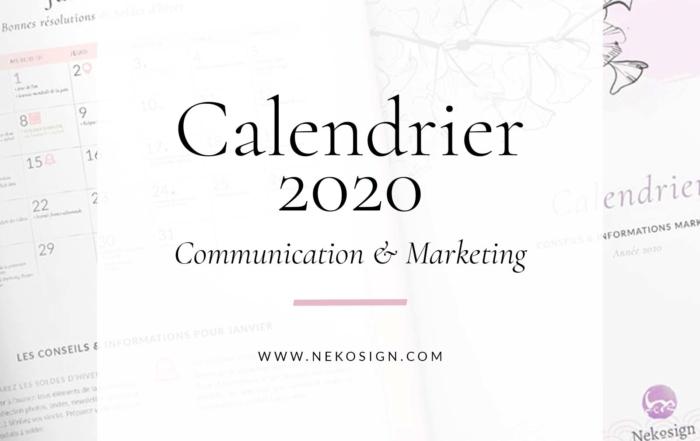 Calendrier de communication 2020
