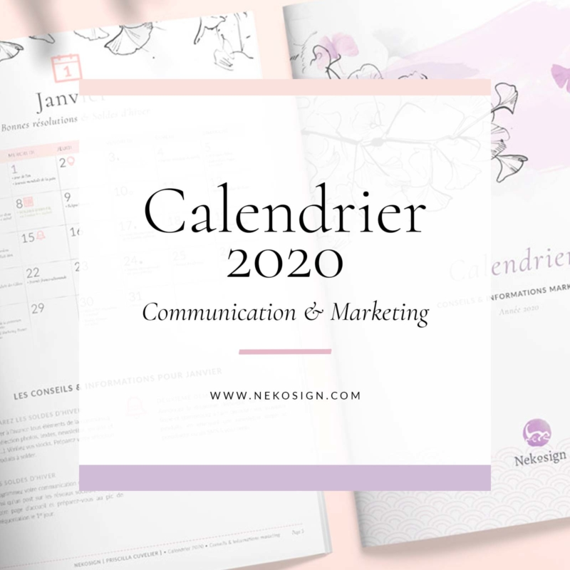 Calendrier de communication 2020