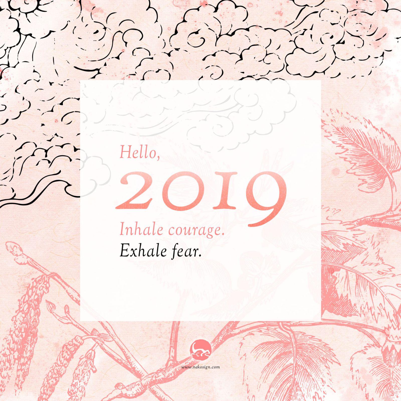 Carte de vœux Nekosign 2019
