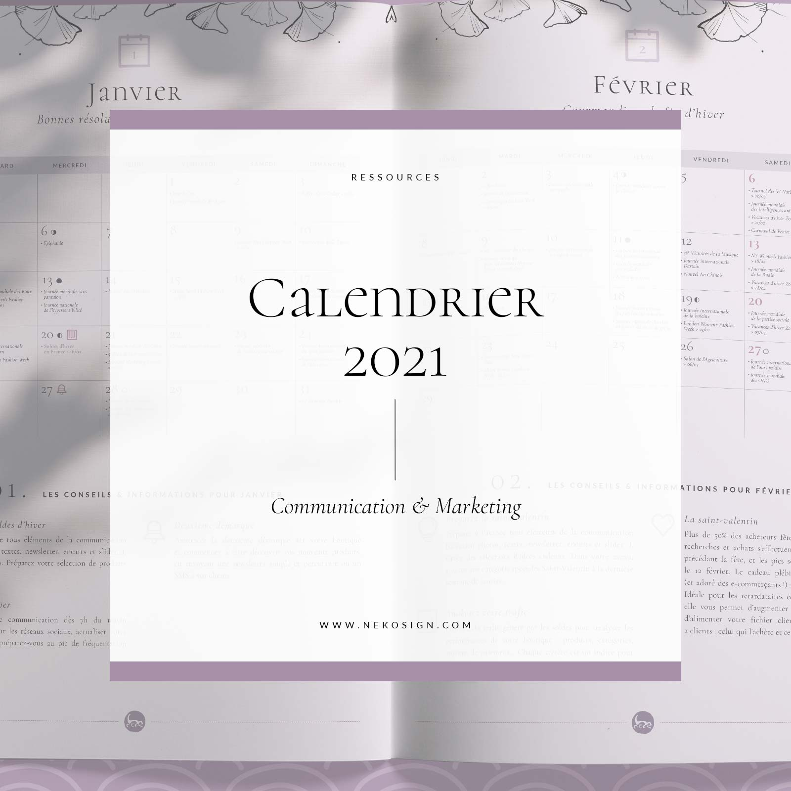 Calendrier 2021 à télécharger