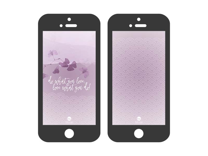 Preview Wallpaper Nekosign Purple scales iPhone